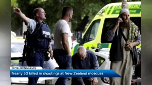 Aftermath of the mass shooting in New Zealand